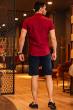 Load image into Gallery viewer, Men's Pocket Navy Blue Capri Shorts