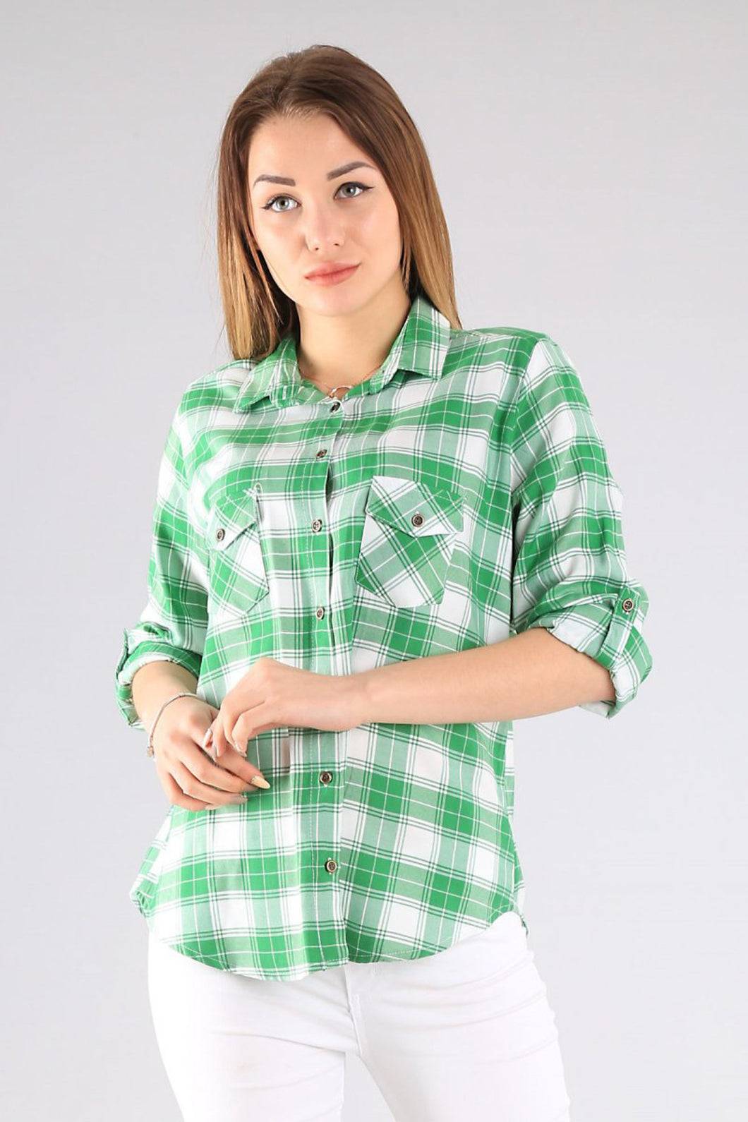 Women's Pocket Checkered Shirt