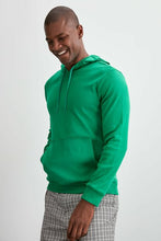 Load image into Gallery viewer, Men's Hooded Long Sleeves Pocket Emerald Green Sweatshirt