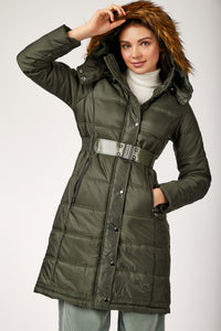 Women's Belted Blown Coat