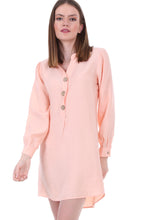 Load image into Gallery viewer, Women's Wooden Button Tunic