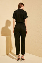 Load image into Gallery viewer, Women's Belted Black Overall