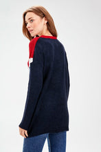 Load image into Gallery viewer, Women's Color Block Tricot Sweater