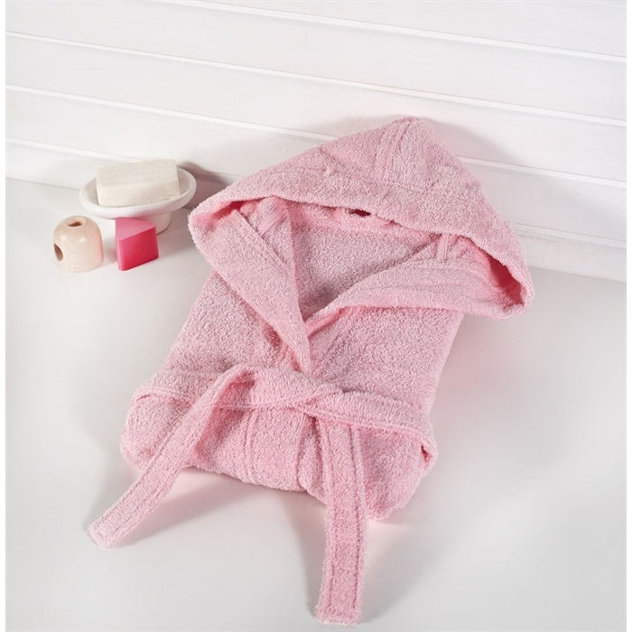 Baby's Basic Pink Bathrobe