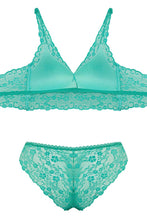 Load image into Gallery viewer, Women's Aqua Green Bralet & Panty Set