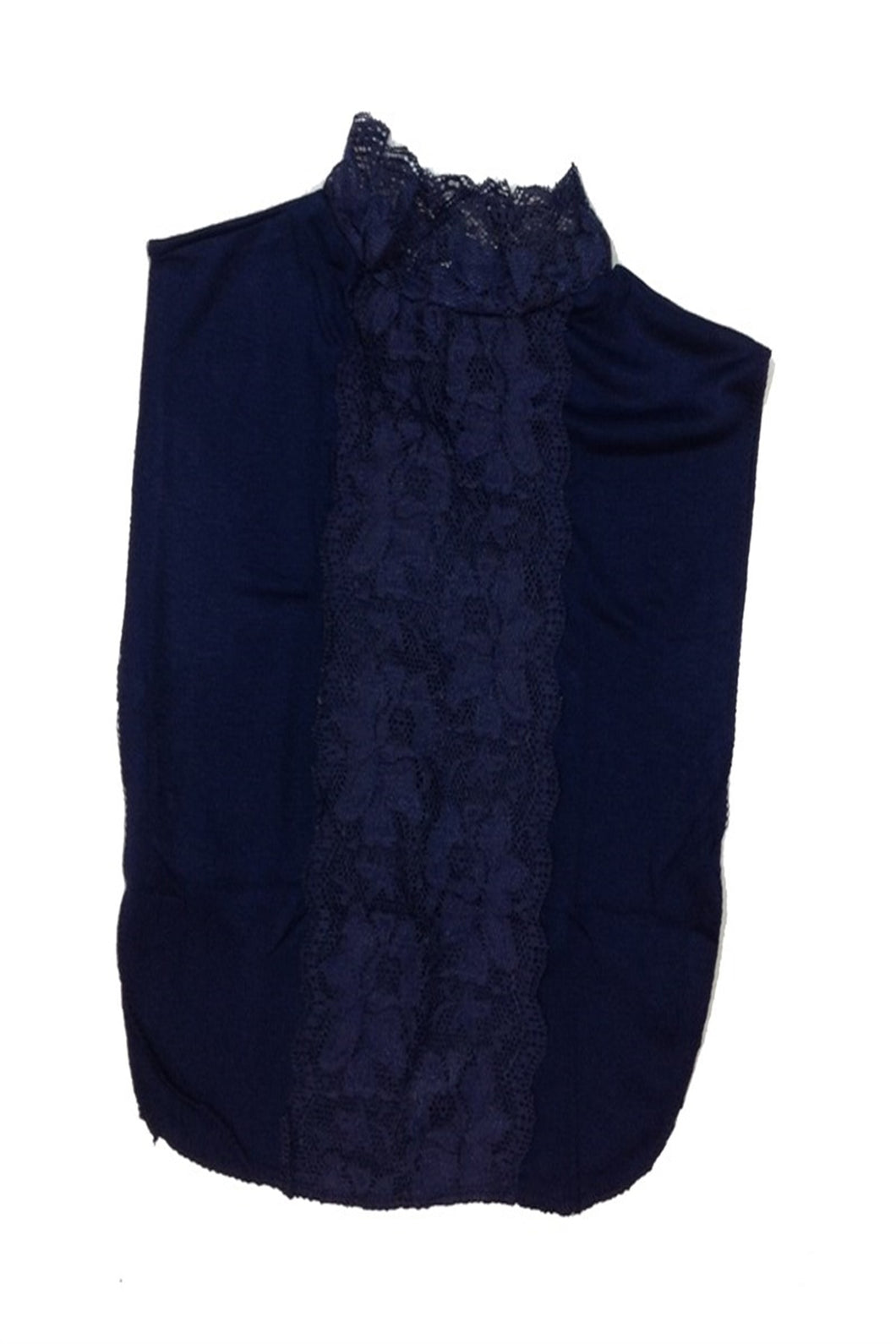 Women's Navy Blue Modest Neck Cover