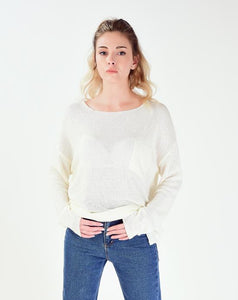 Women's Pocket Tricot Sweater