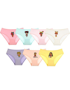 Baby Girl's Printed Panties- 7 Pieces