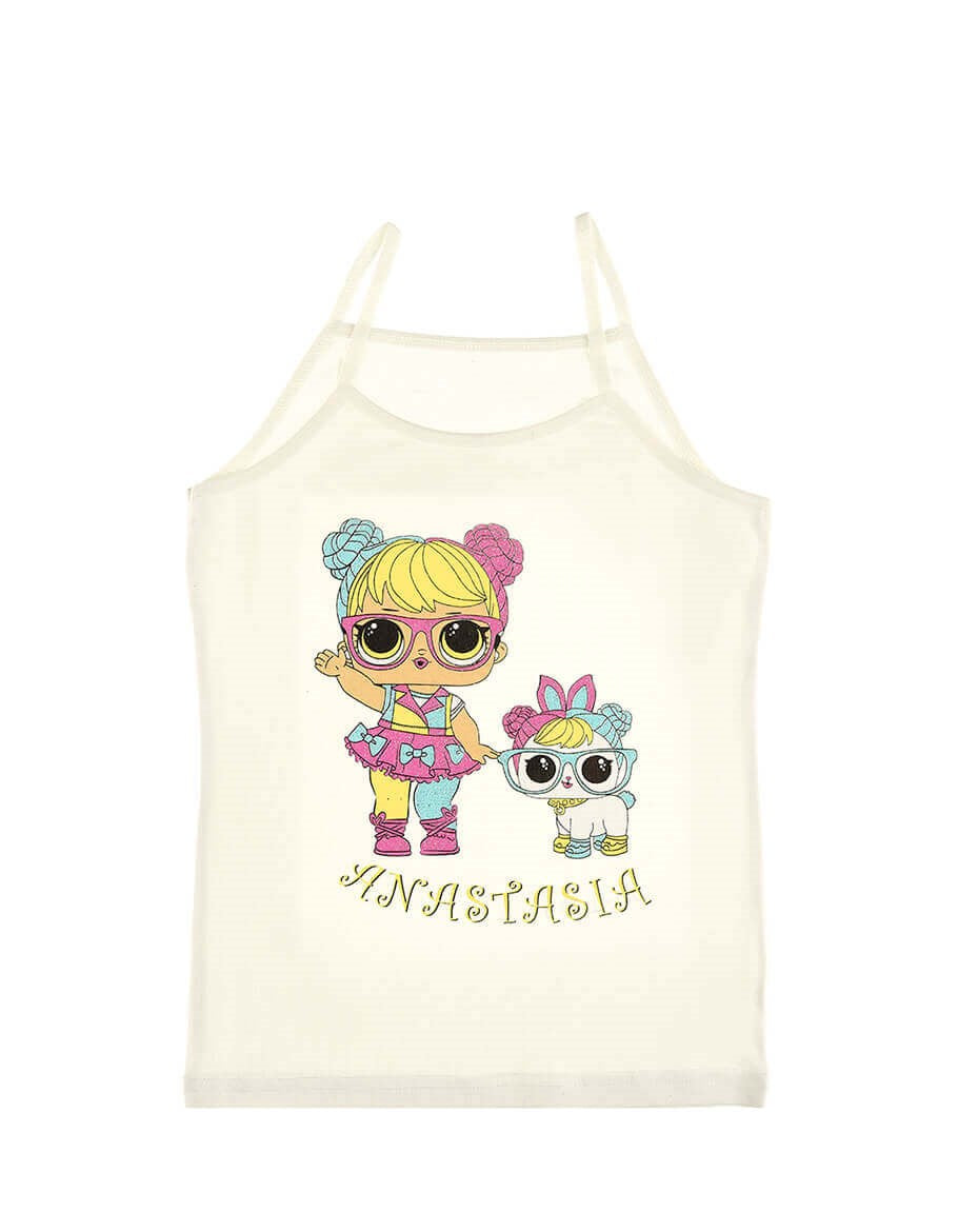 Baby Girl's Printed Sleeveless Undershirt