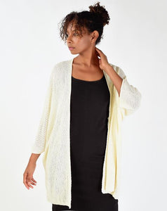 Women's Batwing Sleeves Tricot Cardigan