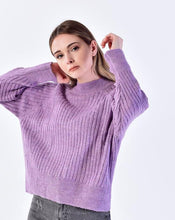 Load image into Gallery viewer, Women's Lilac Rib Sweater