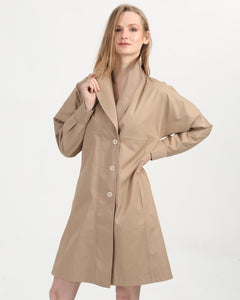 Women's Button Gabardine Coat