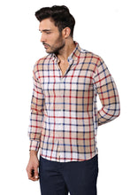 Load image into Gallery viewer, Men's Plaid Linen Shirt