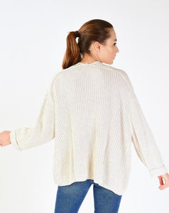 Women's Roll-up Sleeves Cardigan