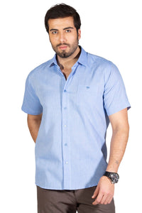 Men's Short Sleeves Blue Shirt
