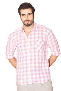 Men's Short Sleeves Plaid Shirt