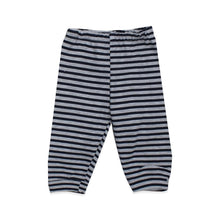Load image into Gallery viewer, Baby's Navy Blue Striped Grey 2 Pieces Outfit Set