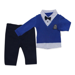 Baby Boy's Blue Outfit Set