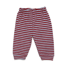 Load image into Gallery viewer, Baby's Striped Red Grey 2 Pieces Outfit Set