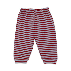 Baby's Striped Red Grey 2 Pieces Outfit Set