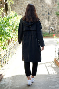 Women's Zipped Midi Topcoat