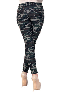 Women's Pocket Camo Pattern Tights