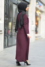 Load image into Gallery viewer, Women's Embroidered Damson Abaya