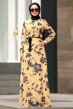 Load image into Gallery viewer, Women's Floral Pattern Yellow Dress