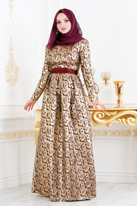 Women's Jacquard Evening Dress