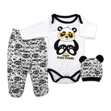 Load image into Gallery viewer, Baby's Printed White Romper Set