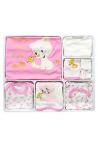 New Born Baby's Cat Design Outfit- 10 Pieces