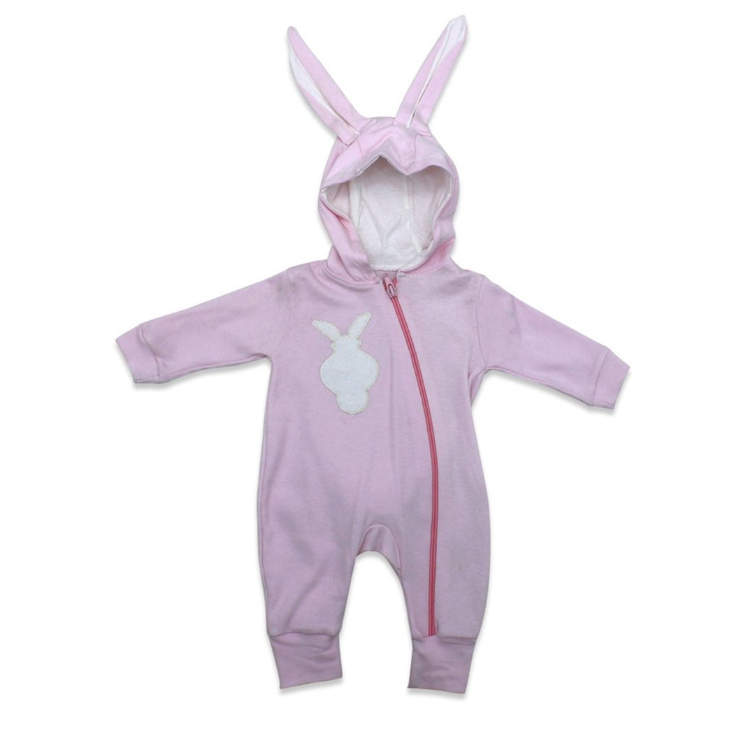 Baby's Bobble Rabbit Design Pink Romper
