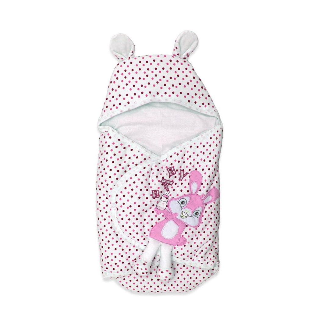 Baby Girl's Dotted Swaddle