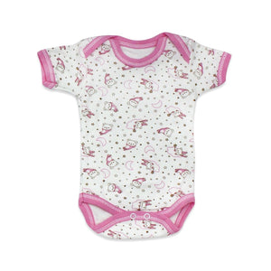 New Born Baby's Rabbit Design Pink White Outfit- 10 Pieces