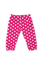 Load image into Gallery viewer, Baby Girl's Dotted Pink White 3 Pieces Outfit Set