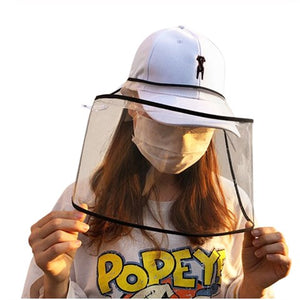 Protective Transparent Face Shield (That Can Be Worn On The Hat)
