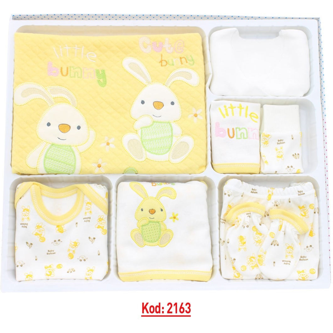 New Born Baby's Rabbit Design 10 Pieces Outfit Set