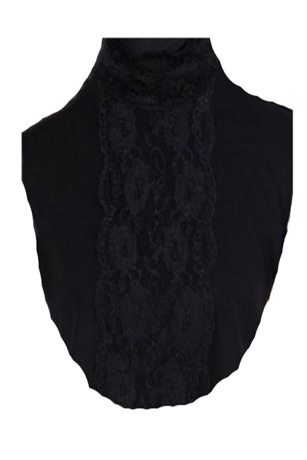 Women's Lace Detail Black Modest Collar Cover