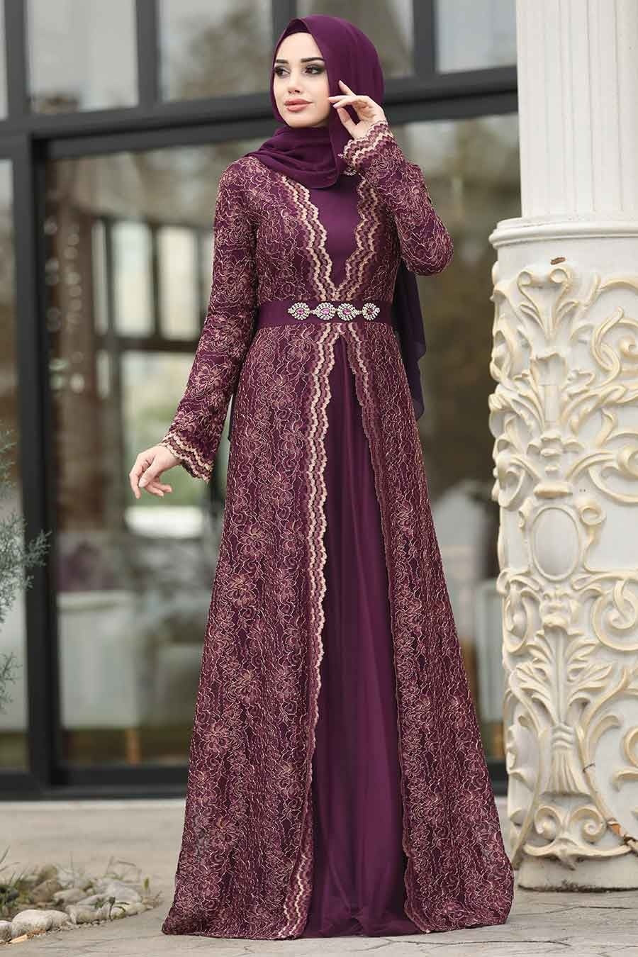 Women's Lace Damson Evening Dress