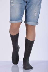 Men's Anthracite Bamboo Socket Socks- 3 Pairs
