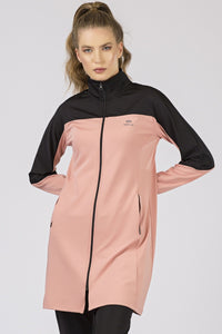 Women's Powder Rose Scuba Fabric Sweat Suit- 2 Pieces