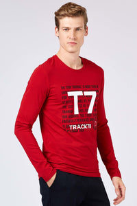 Men's Printed Red Sweatshirt