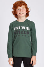 Load image into Gallery viewer, Boy's Printed Green Sweatshirt