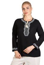 Load image into Gallery viewer, Women's Long Sleeves Black Blouse