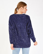 Load image into Gallery viewer, Women's V Neck Chenille Sweater