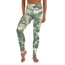 Load image into Gallery viewer, Women's High Waist Camo Print Beige Tights