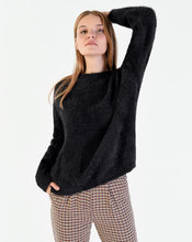 Load image into Gallery viewer, Women's Black Soft Texture Sweater
