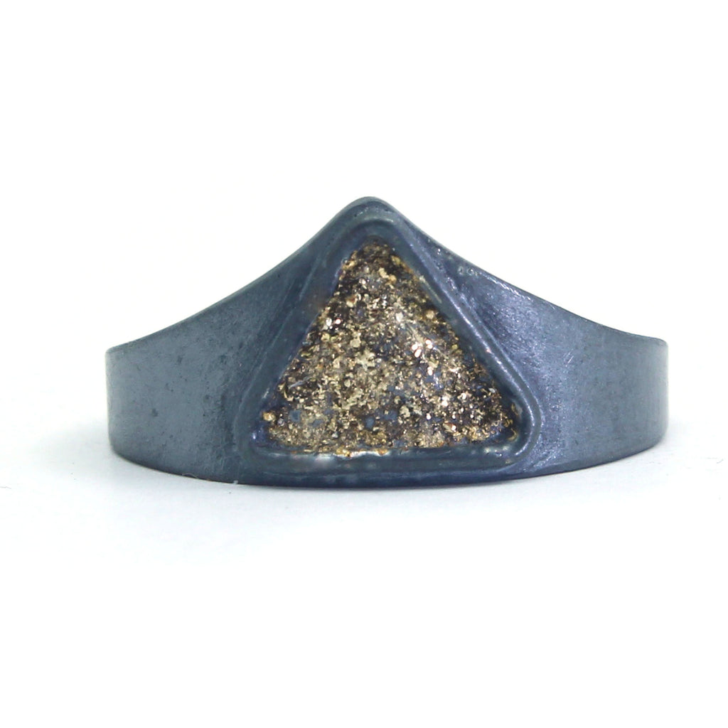 Gold Dust Triangle Ring