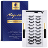 Magnetic Eyeliner & Eyelashes Kit - Different Looks - Comes With Applicator - No Glue Needed