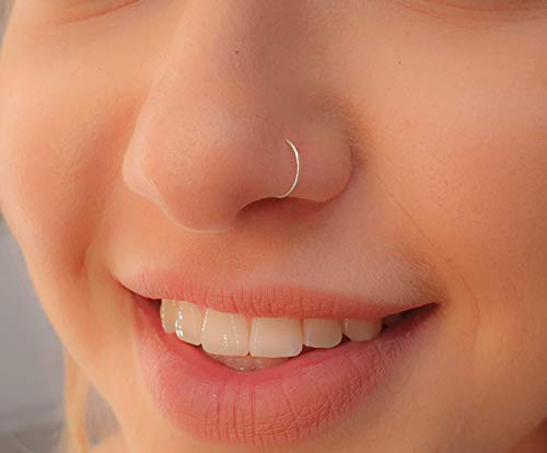 Faux Clip-On Nose Ring 24g - 925 Sterling Silver - No Piercing Needed